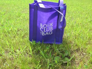 purple bag in grass