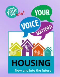 Your Voice matters housing survey poster